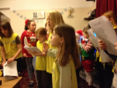 Brownies visit to Poplars Nursing home