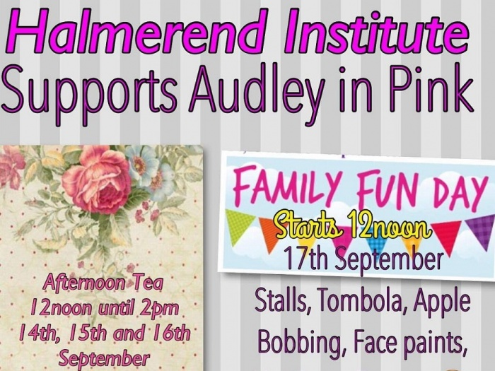 Halmer End Institute supporting Audley in Pink_A_160907