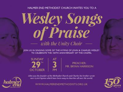 Halmer End Wesley Songs of Praise Poster_171012