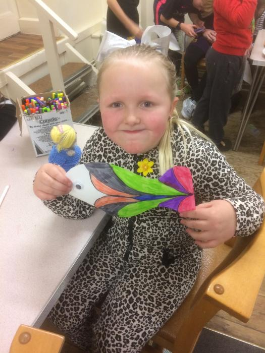 Lily and her colourful fish